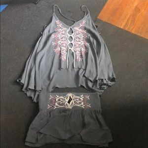 Free People 2 piece set Tank and Shorts - XS/S